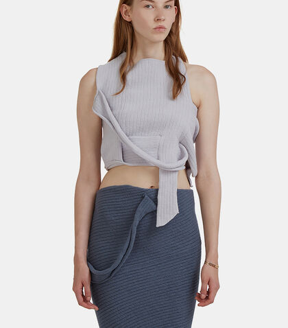 Wrap Knit Tank Sweater by Eckhaus Latta
