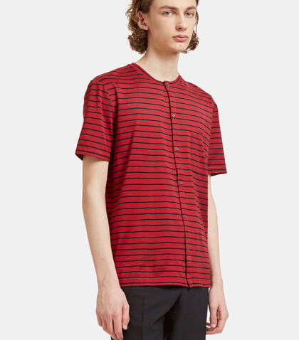Striped Button-Up T-Shirt by Lanvin