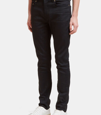 5 Pocket Raw-Edge Skinny Jeans by Saint Laurent