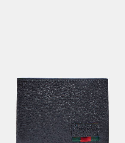 Textured Dollar Ribbon Basic Fold Wallet by Gucci