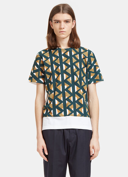 Buy Geometric Print Crew Neck T-Shirt by Marni men clothes online