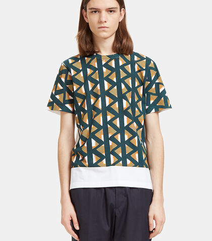 Geometric Print Crew Neck T-Shirt by Marni