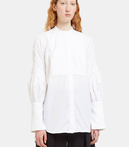 Surreal Ruched Sleeve Bib Shirt by Ellery