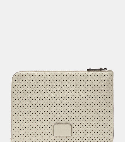 Perforated Leather Document Case by Valentino