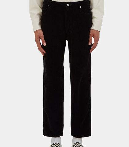 Cropped Waffle Corduroy Jeans by Eckhaus Latta