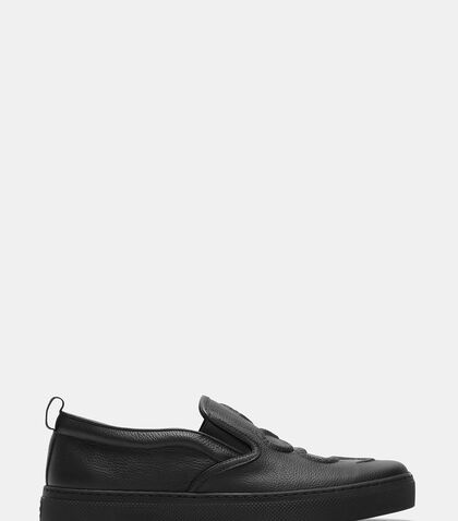 Dublin Snake Embossed Slip-On Sneakers by Gucci