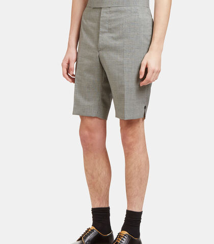 Checked Buttoned Shorts by Thom Browne
