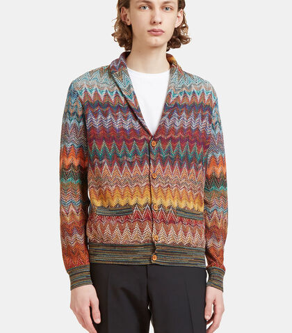 Zigzag Knit Cardigan by Missoni