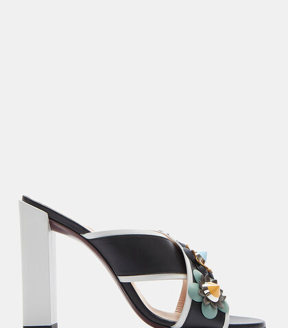 Sabot Jewelled Flower Mules by Fendi