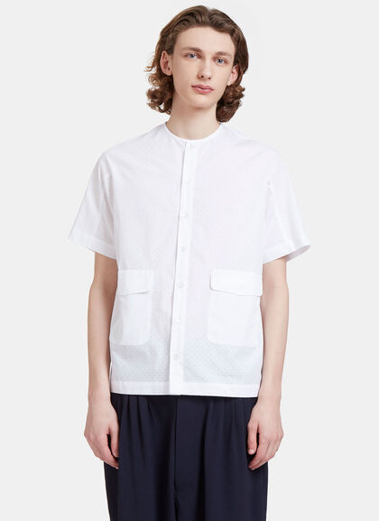 Buy Altmann Perforated Short Sleeved Shirt by Mohsin men clothes online