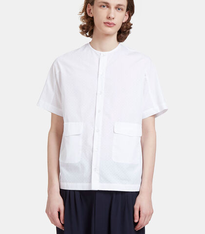 Altmann Perforated Short Sleeved Shirt by Mohsin
