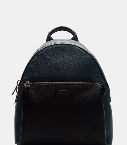 Romano Grained Leather Bi-Colour Backpack by Fendi