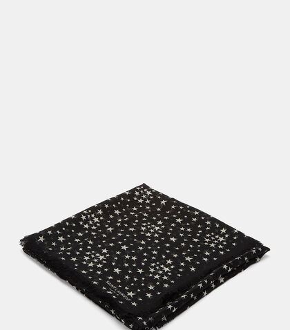 Star Print Scarf by Saint Laurent