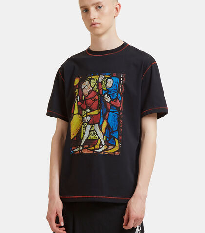 Stained Glass Window Print T-Shirt by J.W. Anderson