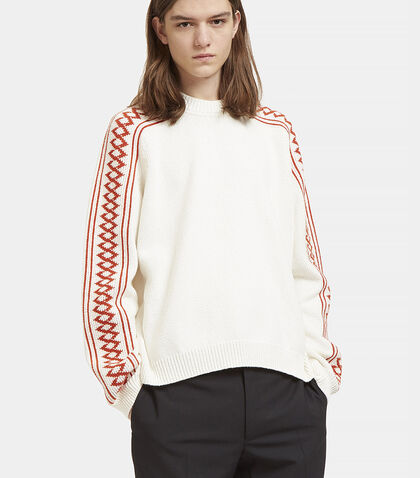 Patterned Knit Crew Neck Sweater by Stella McCartney