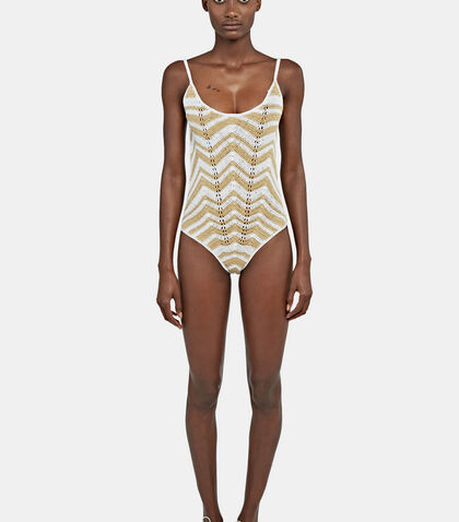 Honey Zigzag Swimsuit by All That Remains
