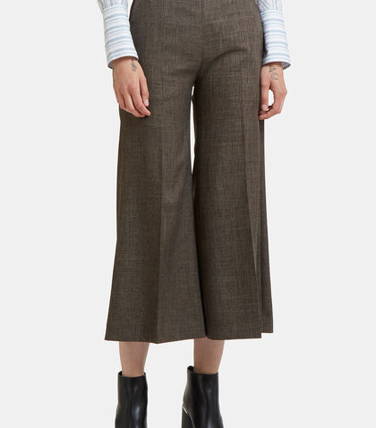 Isa Checked Wide Cropped Culottes by Acne Studios