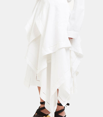 Asymmetric Handkerchief Skirt by J.W. Anderson
