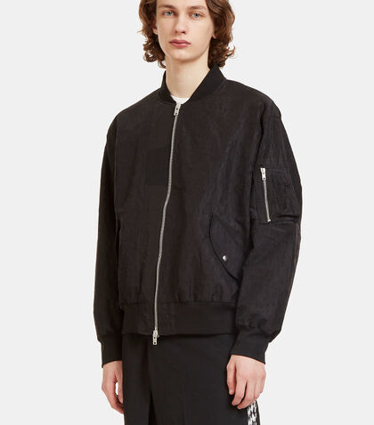 Oversized Creased MA1 Bomber Jacket by Yang Li