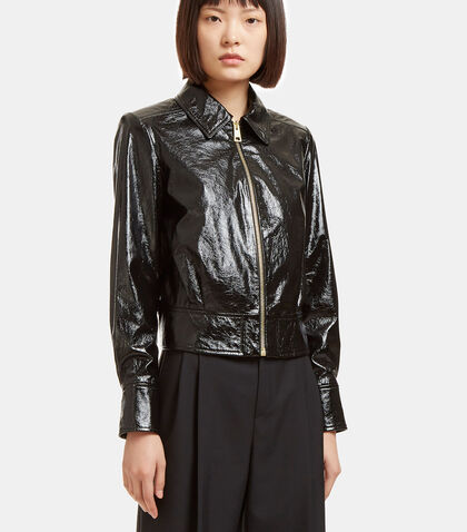 Cracked Patent Leather Jacket by Lanvin