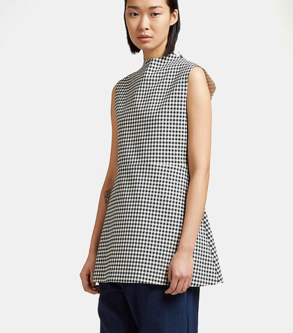 Jellychess Long Gingham Top by A.W.A.K.E