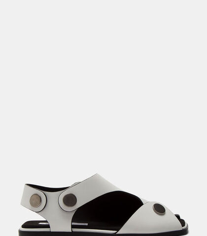 Women's Cut-Out Press Stud Sandals in White by Stella McCartney