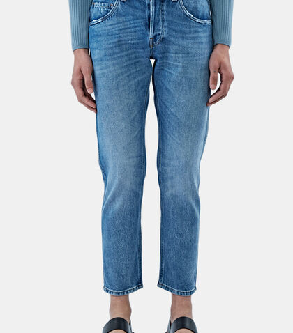 Washed Slim Leg Jeans by Gucci