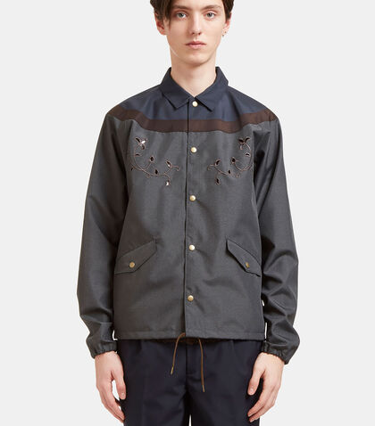 Embroidered Contrast Panelled Coach Jacket by Kolor
