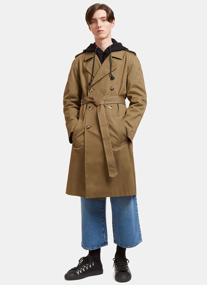 Buy Rainbow-Stitched Trench Coat by J.W. Anderson men clothes online