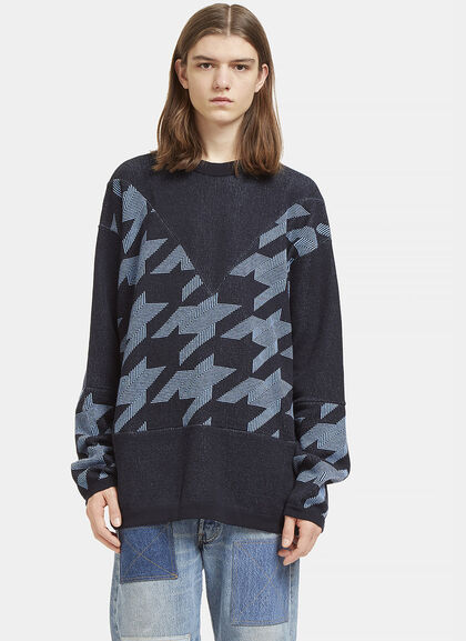 Buy Star Intarsia Crew Neck Sweater by Stella McCartney men clothes online