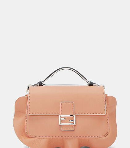 Micro Double Baguette Waved Frill Double-Sided Bag by Fendi
