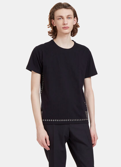 Buy Metal Eyelet T-Shirt by Valentino men clothes online