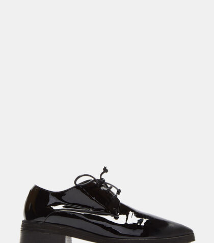 Lace-up Patent Leather Derby Shoes by