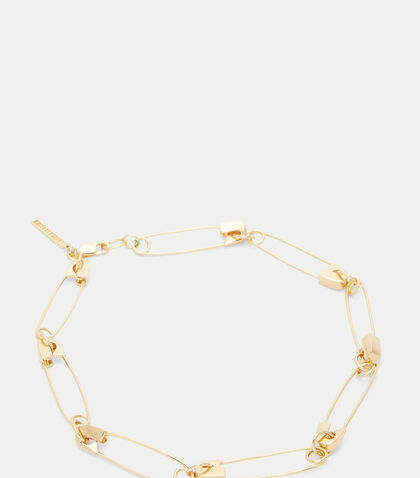Safety Pin Link Choker by Lauren Klassen