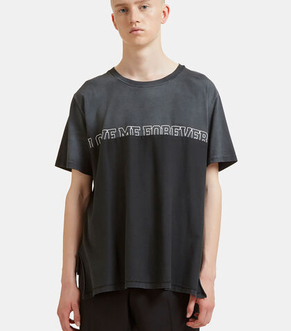 Oversized Love Me Forever Overlapped T-Shirt by Saint Laurent