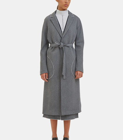 White Noise Overlocked Seam Trench Coat by Hockin