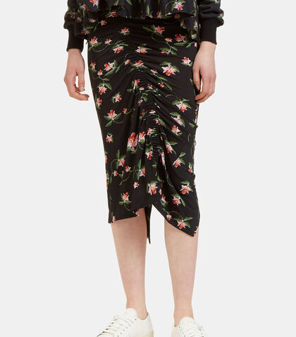 Shirley Ruched Daffodil Skirt by Preen