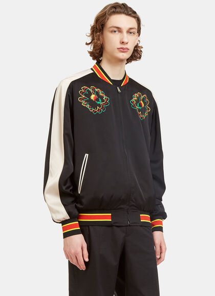 Buy Nice One Flower Embroidered Bomber Jacket by Stella McCartney men clothes online