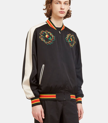 Nice One Flower Embroidered Bomber Jacket by Stella McCartney