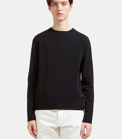 Press Stud Leather Strap Sweater by Valentino