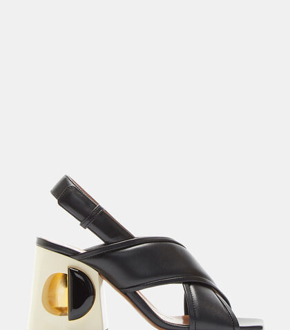 Hollow-Holed Block Heel Sandals by Marni