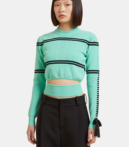 Zigzag Knit Cut-Out Sweater by Fendi