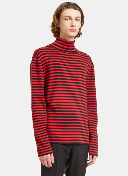 Buy Striped Roll Neck Knit Sweater by Gucci men clothes online