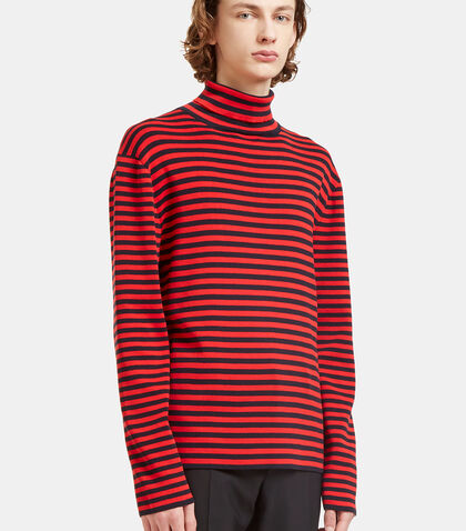 Striped Roll Neck Knit Sweater by Gucci