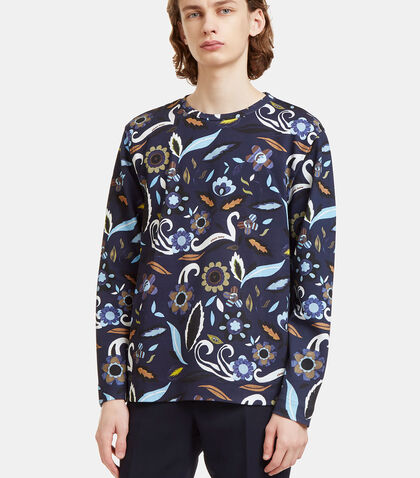 Garden Print Crew Neck Sweater by Fendi