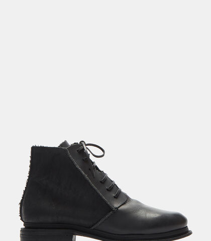 Mario Waxed Lace-Up Leather Boots by Petrucha