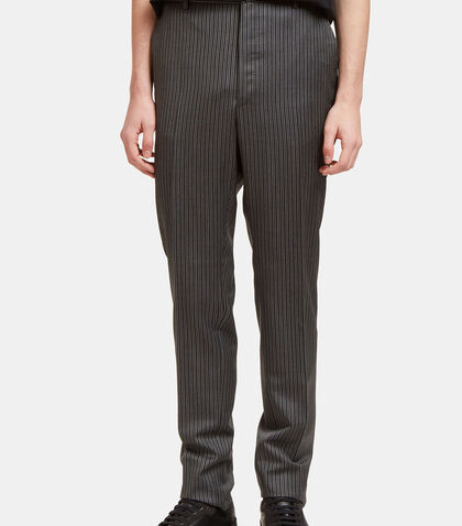 Topstitched Pinstripe Straight Leg Pants by Lanvin