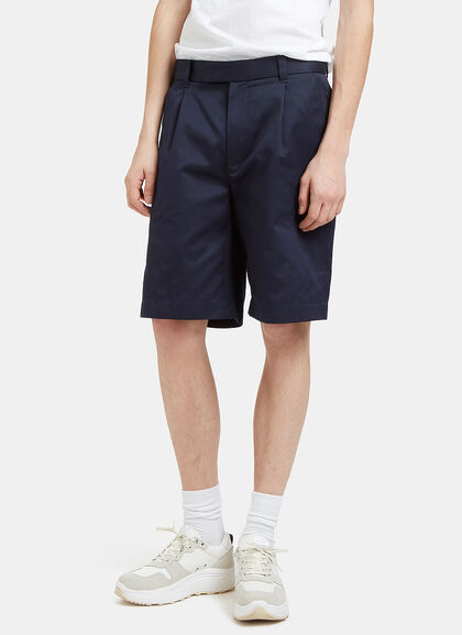 Buy 70s Stretch Twill Pleat Shorts by Gucci men clothes online