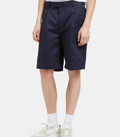 70s Stretch Twill Pleat Shorts by Gucci