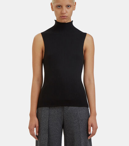 Braidy Ribbed Knit Tank Top by Calvin Klein Collection